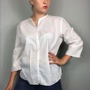 Eileen Fischer | 3/4 Sleeve Button Up Top